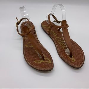 SAM EDELMAN THONG LEATHER SANDALS
